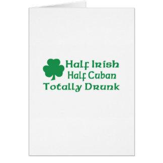 Half Irish Half Cuban Totally Awesome Greeting Card