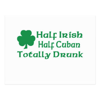 Half Irish Half Cuban Totally Awesome Postcard