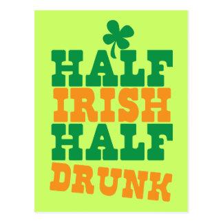 Half Irish Half Drunk Postcard