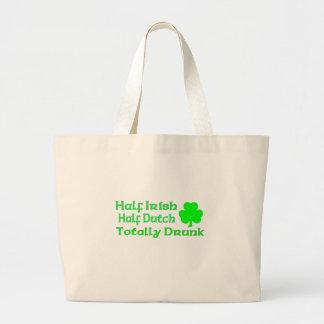 Half Irish Half Dutch Totally Drunk Canvas Bags