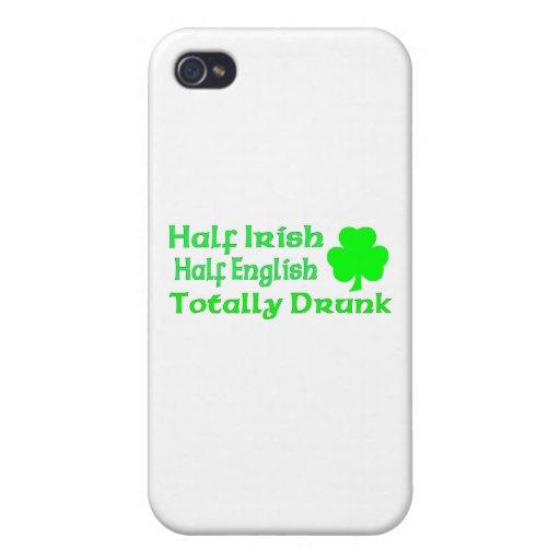Half Irish Half English Totally Drunk iPhone 4 Cover