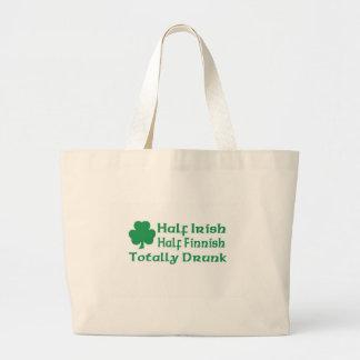Half Irish Half Finnish Totally Drunk Canvas Bag