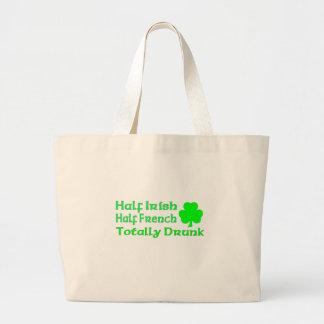 Half Irish Half French Totally Drunk Bags