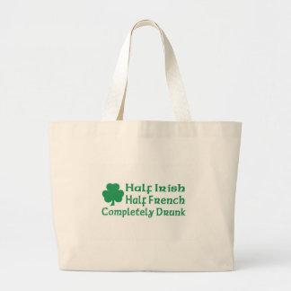 Half Irish Half French Totally Drunk Bag