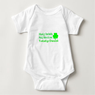Half Irish Half Mexican Totally Awesome Baby Bodysuit