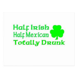 Half Irish Half Mexican Totally Awesome Postcard