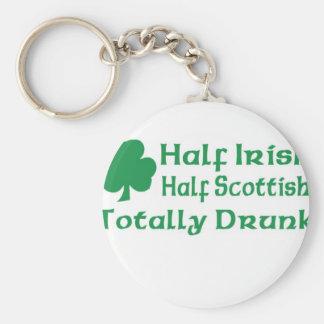 Half Irish Half Scottish Totally Drunk Key Chain