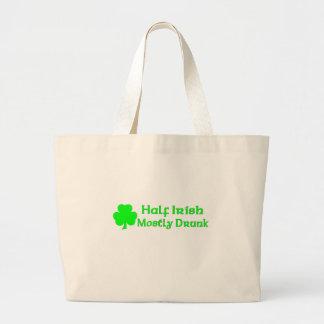 Half Irish Mostly Drunk Canvas Bag