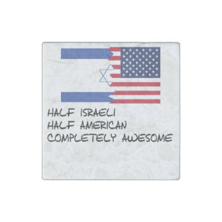 Half Israeli Completely Awesome Stone Magnet
