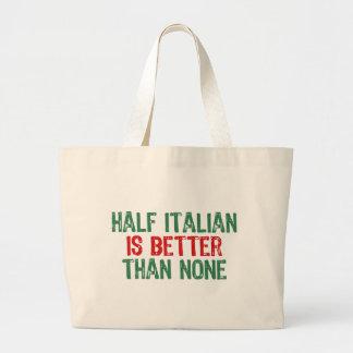 Half Italian Large Tote Bag