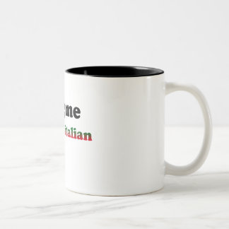 Half Italian Two-Tone Coffee Mug