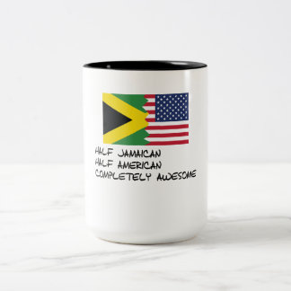 Half Jamaican Completely Awesome Two-Tone Coffee Mug