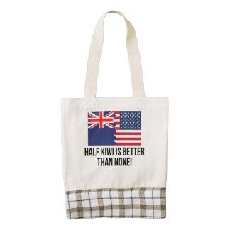 Half Kiwi Is Better Than None Zazzle HEART Tote Bag