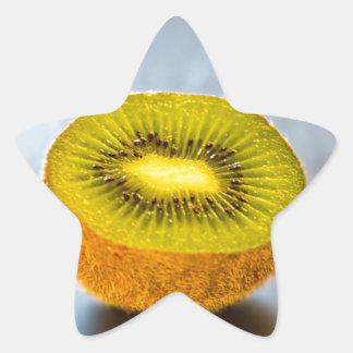 half Kiwi on the table Star Sticker
