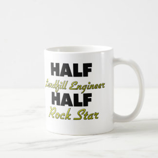 Half Landfill Engineer Half Rock Star Classic White Coffee Mug