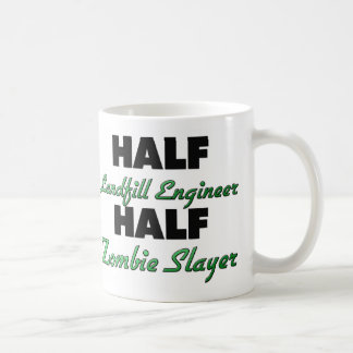 Half Landfill Engineer Half Zombie Slayer Classic White Coffee Mug