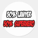 Half Lawyer...Half Superhero Sticker
