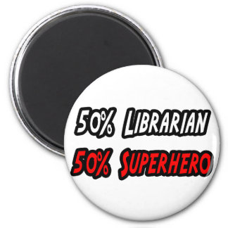 Half Librarian Half Superhero Refrigerator Magnet