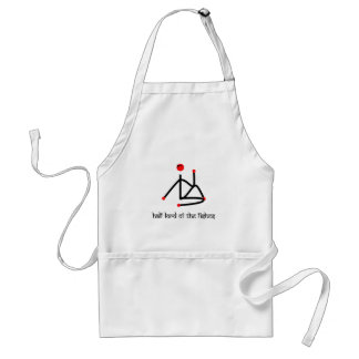 Half lord of the fishes yoga pose Sanskrit Adult Apron