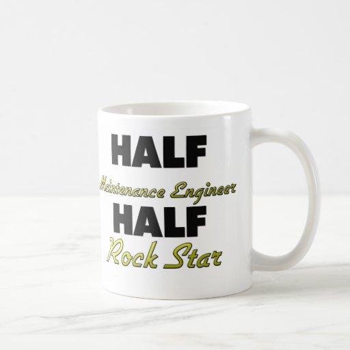 Half Maintenance Engineer Half Rock Star Classic White Coffee Mug