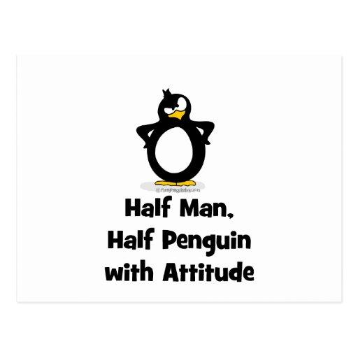 Half Man, Half Penguin with Attitude Postcard