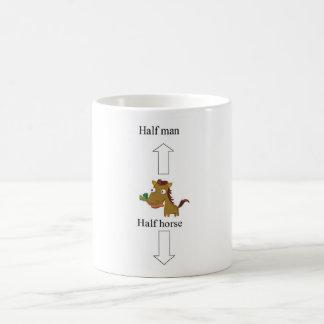 half man-horse classic white coffee mug