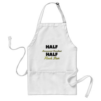 Half Management Consultant Half Rock Star Adult Apron
