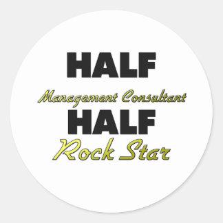 Half Management Consultant Half Rock Star Classic Round Sticker