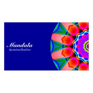 Half Mandala 07 - Blue 000099 Business Card