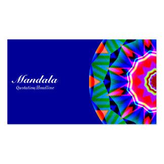 Half Mandala 08 - Blue 000099 Business Card