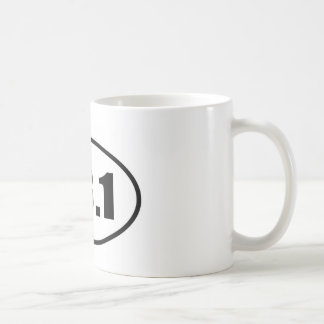 Half Marathon 13.1 Runner Oval Coffee Mug