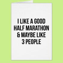 Half Marathon & 3 People Card