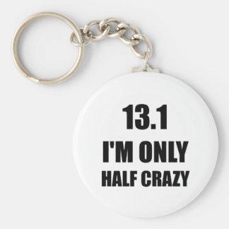 Half Marathon Crazy Keychain