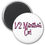 Half Marathon Girl Magnets