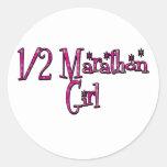 Half Marathon Girl Sticker