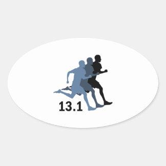 Half Marathon Oval Sticker