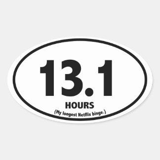 Half Marathon Parody Sticker