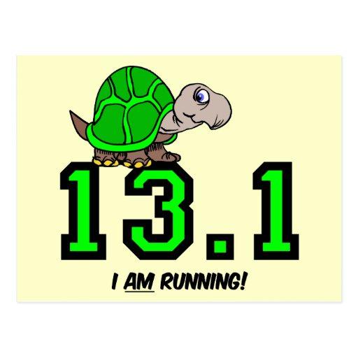 Half marathon post card