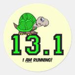 Half marathon round sticker
