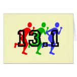 Half marathon running card