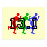 Half marathon running postcard