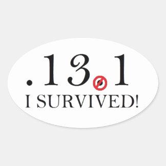Half Marathon Spoof Sticker