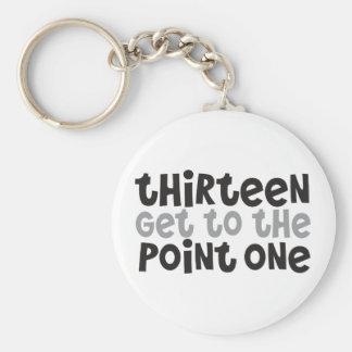 Half-Marathoner 13.1 thirteen get to the point one Basic Round Button Keychain