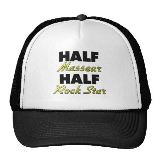 Half Masseur Half Rock Star Trucker Hat