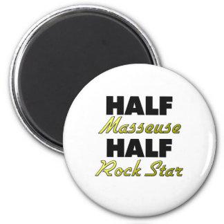 Half Masseuse Half Rock Star Magnets