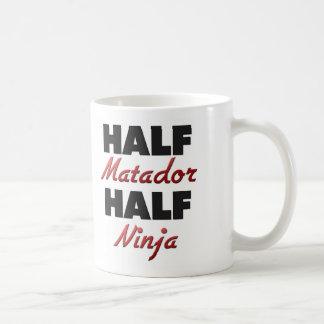 Half Matador Half Ninja Classic White Coffee Mug