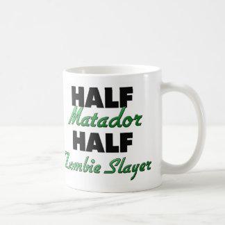 Half Matador Half Zombie Slayer Classic White Coffee Mug