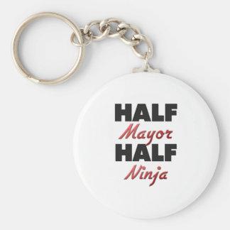 Half Mayor Half Ninja Keychain