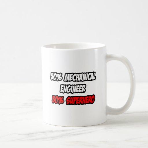 Half Mechanical Engineer...Half Superhero Classic White Coffee Mug