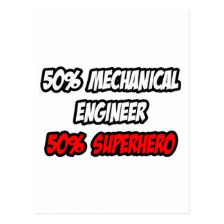 Half Mechanical Engineer...Half Superhero Postcard
